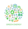 Ecology background with environment green energy vector