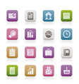 Business and office realistic internet icons - vec vector
