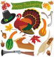 Thanksgiving clipart icons vector