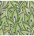 Seamless pattern with green leaves and blots vector