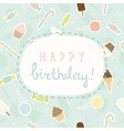 Sweet greeting birthday card vector