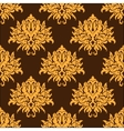 Golden yellow vintage floral seamless pattern vector