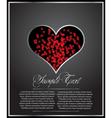 Heart shaped card vector