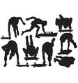 Skeleton sport silhouette vector