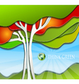 Stylized simple nature background vector