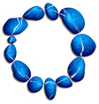 Blue stones vector