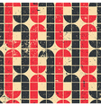 Vintage red and black geometric seamless pattern vector
