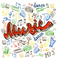 Music color background vector