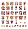 Abc letters with ethnic patterns vector