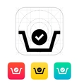 Shopping basket check icon vector