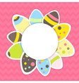 Eastern eggs pattern on a pink vector