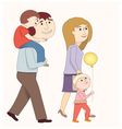 A family walking together vector