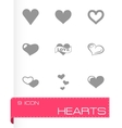 Hearts icon set vector