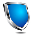 Modern blue shield vector