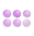 Striped violet ball logo vector