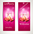 Banner on a pink background with text vector