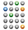 Round buttons miscellaneous vector