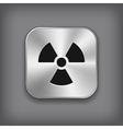 Radioaktivity icon - metal app button vector