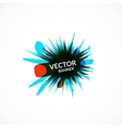 Ink explosion banner design template digital vector
