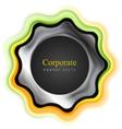 Abstract tech corporate logo design vector