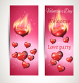 Banner ads on a pink background vector