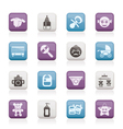 Baby and toys icons vector