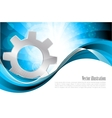 Background with gear vector
