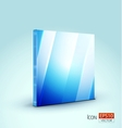 Blue plate icon or background vector