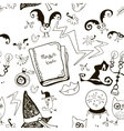 Black and white seamless pattern for halloween vector