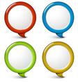 Set of round simple 3d bubbles vector