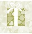 Hearts on gift box elegant retro card eps 8 vector