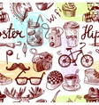 Hipster seamless vector