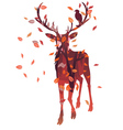 Stag silhouette with forest vector