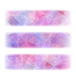 Set of three banners with abstract polygonal vector