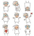 Girl character comic collection vector