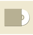 Blank white compact disc vector