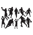 Silhouettes of basketball vector