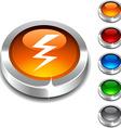 Warning 3d button vector