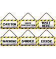 Different warning signages vector