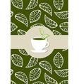 Green tea package label vector