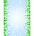 Grass frame background vector