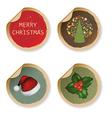 Set vintage christmas labels vector