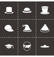 Helmet and hat icon set vector