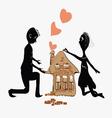Couple building house vector