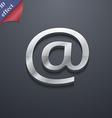 E-mail icon symbol 3d style trendy modern design vector