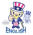 United states uncle sam character vector