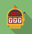 Slot machine icon modern flat style with a long vector