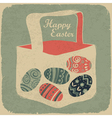 Vintage happy easter vector
