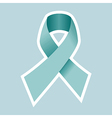 Prostate cancer symbol in blue vector