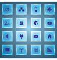 Laptop and pc indication glass buttons eps10 vector